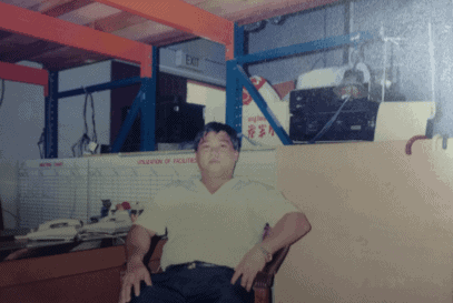 This is Mr. Toh in an undated photo, which I personally think may be around 1998
